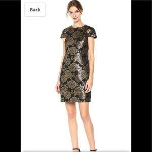 Sam Edelman Brocade Cap Sleeve Dress sz 8 NWT